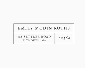 Personalized Classic Return Address Stamp in Rubber or Self Inking