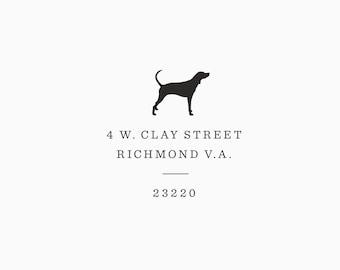 Custom Rubber Dog Breed Address Stamp