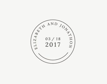 Wedding Date Stamp, Custom Wedding Stamp, Wedding Date, Personalized Wedding Favor Stamp, Wedding Logo, Custom Wedding Monogram, Date Stamp
