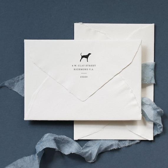 Custom Dog Return Address Fathers Day Gift Envelope Etsy