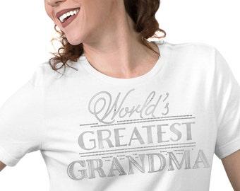 World's Greatest Grandma Jersey Tee-Mother's Day Gift, Grandmother Gift, Grandma Tote, Grandma Birthday Gift,Grandma Christmas Gift,Mom Gift