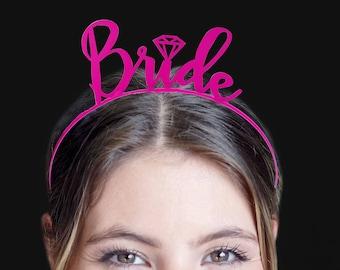 Wedding Headband - Bridal headband, Shower Favors, Bride Tiara, Bachelorette Favors, Bridal Party headbands, Bachelorette Party headband