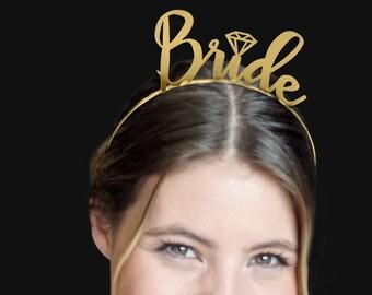 Bride Headband - Bridal Shower Favors, Headband, Bride Tiara, Bachelorette Favors, Bridal Party headbands, Bachelorette Party headband
