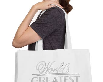 World's Greatest Grandma Large Tote - Grandma Tote, Grandma Gift, Christmas Gift, Mother's Day Tote, Mothers Day Gift, Birthday Gift