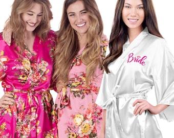 Silk Floral Bridal Robes - Bride Satin Robe 24ea77485