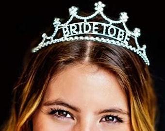 Rhinestone Bride to Be Tiara- Bride Headband 6e6a5969c27a