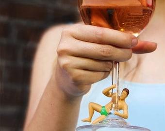 Bachelorette Party Favors - Wine Charms, Bachelorette Party Drinks, Wine Markers, Bachelorette Favors, Bridal Party Favors, Drink Dudes