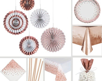 Confetti Rose Gold Table Decorations