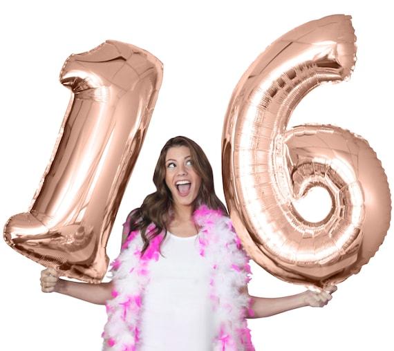 Rose Gold 16th Birthday Jumbo Balloon Kit 21st 30th 40th