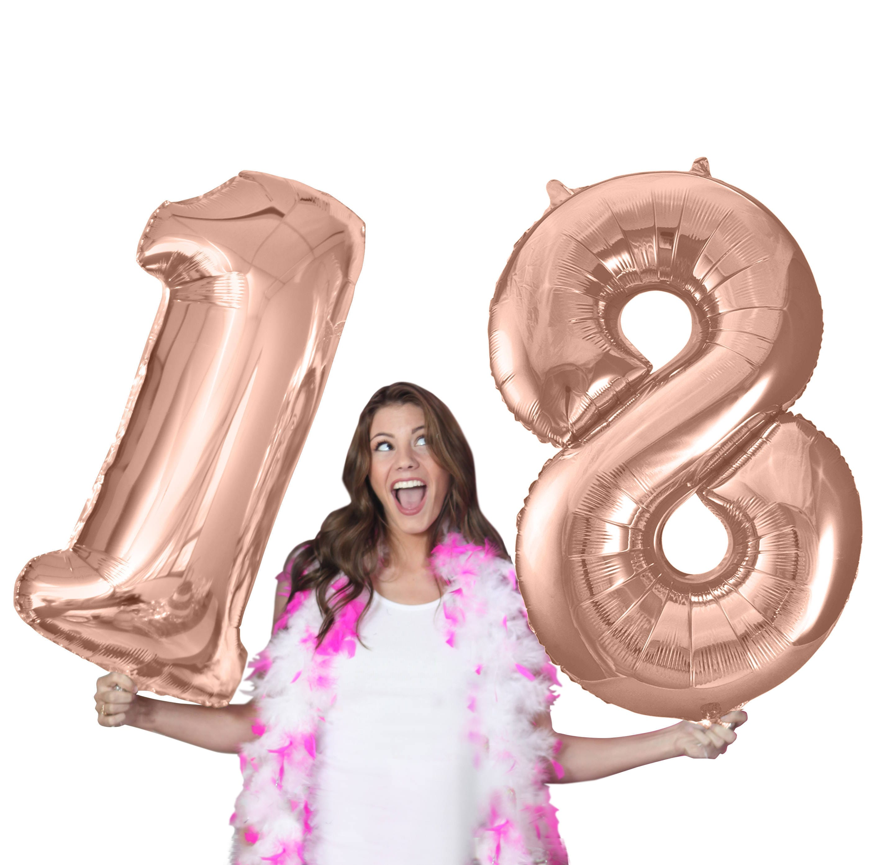 Giant Rose Gold 18th Birthday Balloon 16th 21st 40th 50th