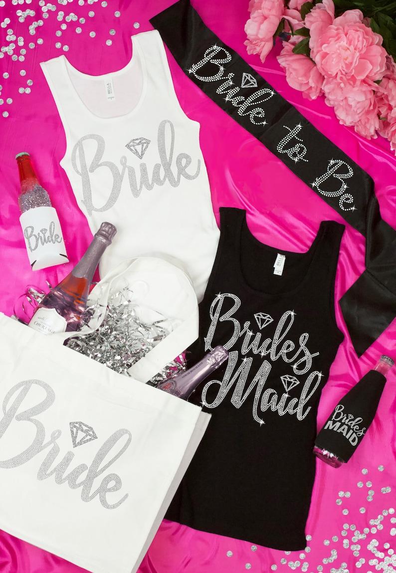 Bachelorette Tops Bridal Party Shirts Bridesmaid Tank Maid  9bccc363c88f