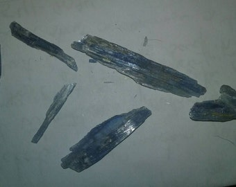 Super blue raw Kyanite Pieces small and large available.