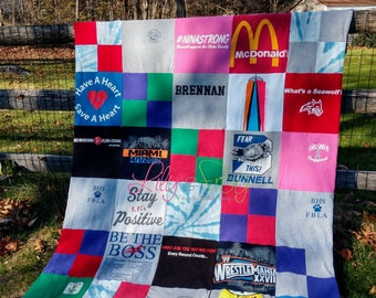 Keepsake T-Shirt Blanket Size Extra Large Blanket (Long Twin Blanket)