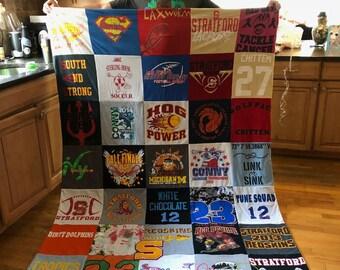 Keepsake T-Shirt Blanket Size Extra Extra Large Blanket (Long Twin Blanket)