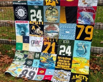 Keepsake T-Shirt Blanket Size Large Blanket (Small Twin Blanket)