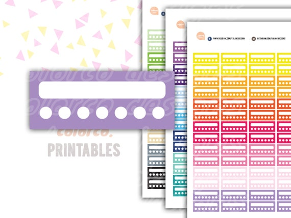 weekly habits tracker printable planner stickers erin condren happy planner inkwell plum paper instant digital download