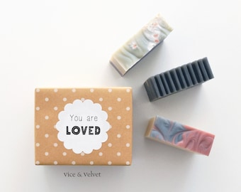 Triple Bar Gift Set - 3 Handmade Soaps - Choose from 6 Messages