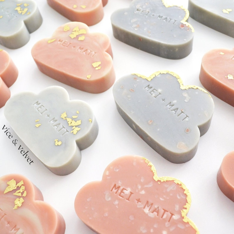 Custom Stamped Soap Favours  Personalised for your Wedding image 0