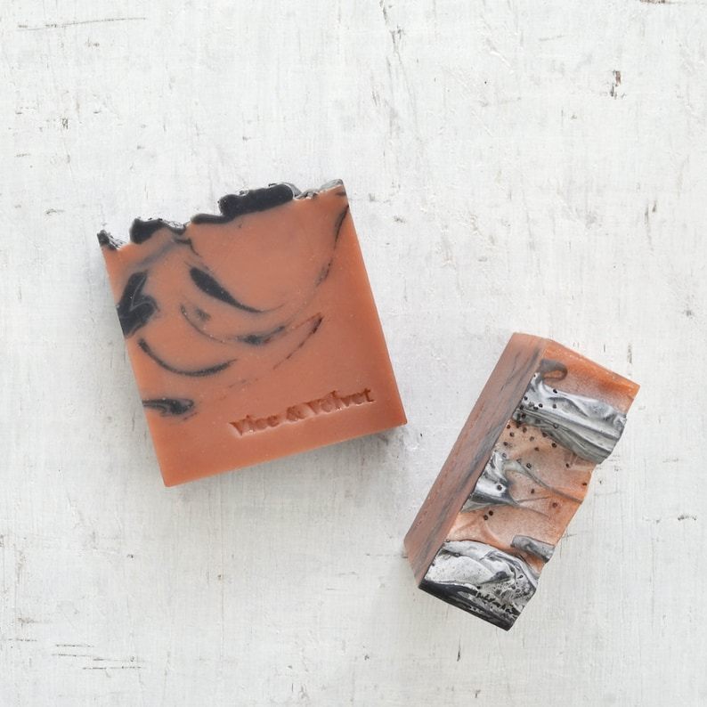 Thief in the Night Handmade Soap  Orange Patchouli Black image 0