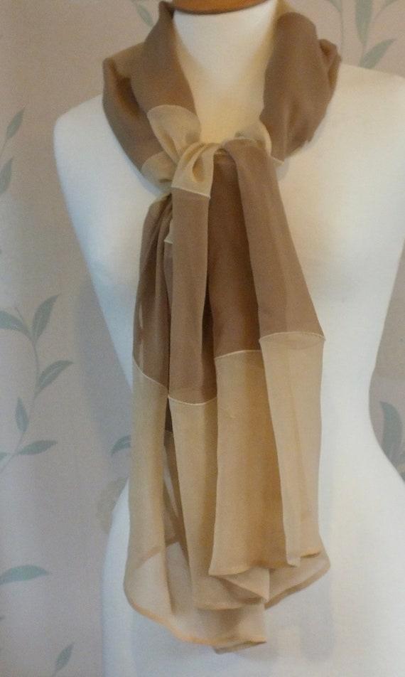 GIORGIO ARMANI Vintage Silk/Chiffon Long SCARF.
