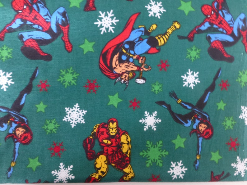 Marvel Christmas.Marvel Comics Green Christmas Hulk Iron Man Spiderman Cpt America Super Heros Cotton Fabric Home Holidays Patchwork 42 X 20 112cm X 50cm