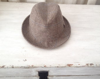 57/ M / Borsalino Tweed Hat / Felt / size M / Felted luxury hat
