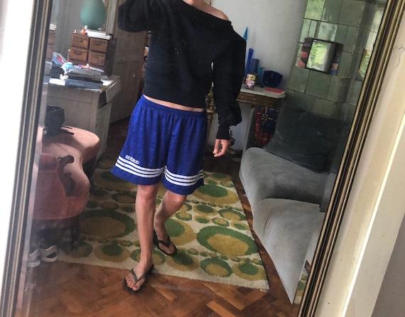 Vintage adidas 3 stripes bermuda shorts / blue ela