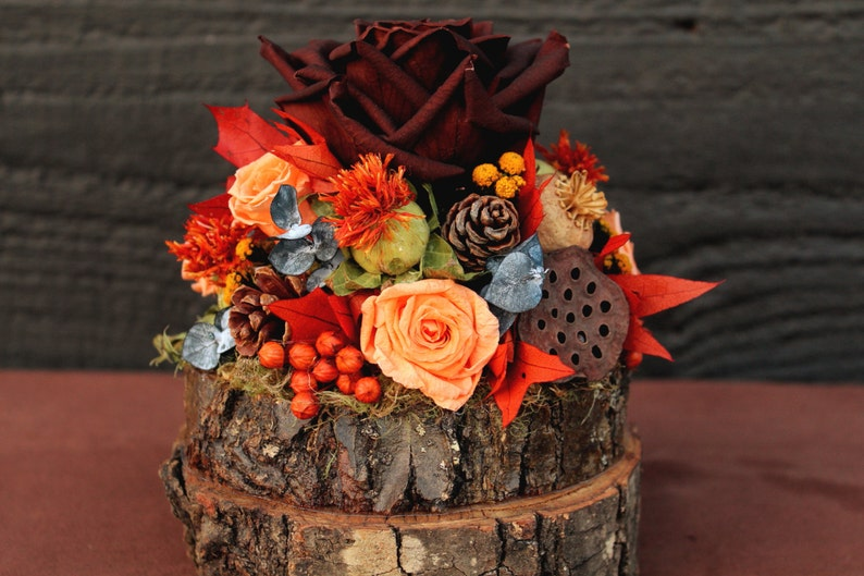 Rustic Autumn Wedding Cake Topper Woodland Cake Topper Fall Etsy