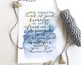Custom Quote Print, Watercolor Print, Custom Handwriting, Custom Calligraphy, Watercolor Art, Bible Verse Art, Custom Gifts