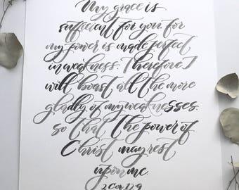 Custom Quote Print, Watercolor Print, Watercolor Quote, Custom Handwriting, Custom Calligraphy, Watercolor Art, Bible Verse Art, Custom Gift