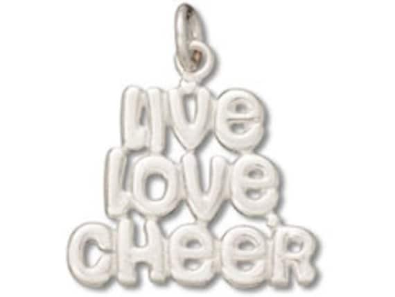 Sterling Silver Cheerleader Charm