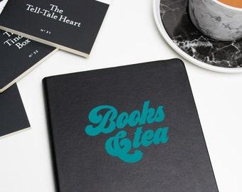 Books & Tea Vinyl Decal Laptop Notebook Sticker