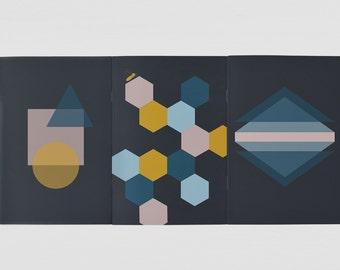 Set of 3 A5 Notebooks Geometric