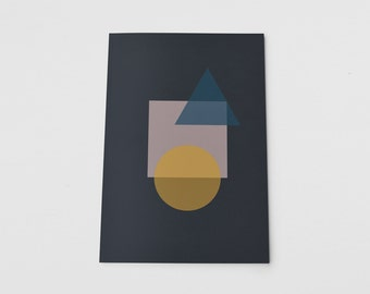 A5 Notebook Abstract Layered Shape Geometric