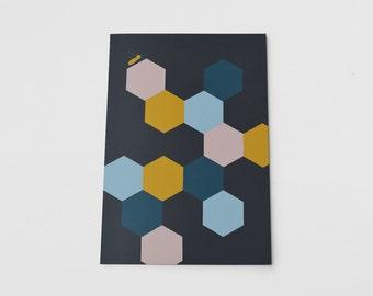 A5 Notebook Honeycomb Geometric