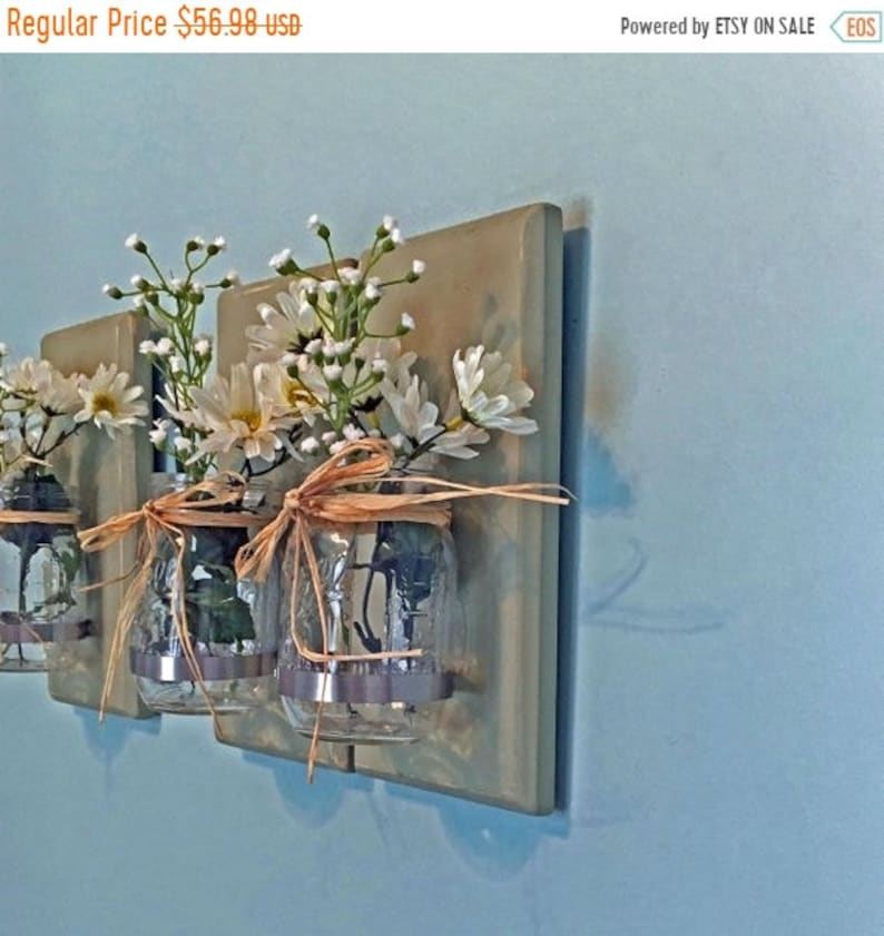 the best attitude 64afa 18de2 Rustic Mason Jar Wall Sconces Nursery Wall Sconces Set of 3 Gift For Her