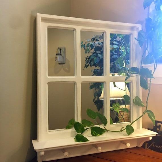 6 Pane Farmhouse Window Frame Mirror, 6 Pane Window Frame Mirror