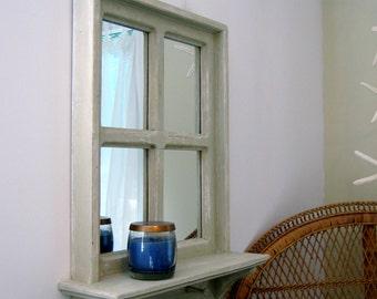 Farmhouse Mirror, Rustic Wall Mirror, Shabby Chic Mirror, Living Room Mirror, Wall Mirror, Rustic Wall Decor