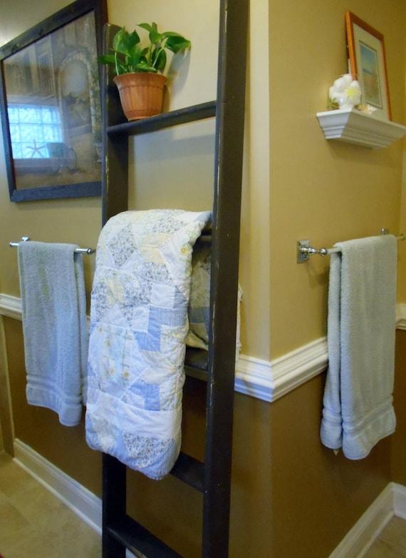 Wood Ladder Towel Ladder Quilt Ladders Quilt Ladder Decorative Etsy