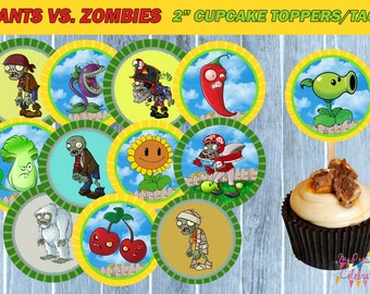 Plants Vs Zombies Cupcake Toppers