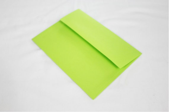 50 neon green 4x6 invitation envelopes set of 50 size a6 etsy