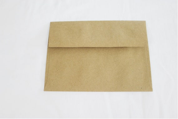 50 kraft colored brown 5x7 invitation envelopes set of 50 etsy