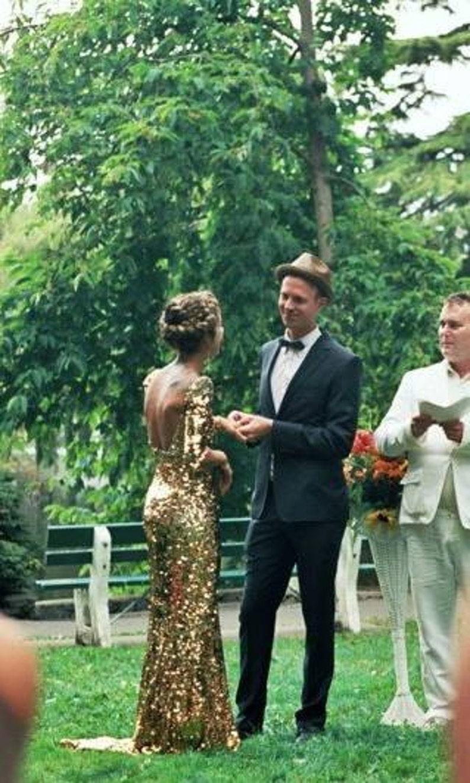 714f9ec9 Sequin wedding gown | Etsy
