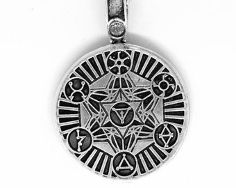 """New Sterling Silver """"Guide"""" Pendant - with chain"""