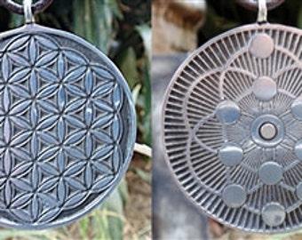 ABUNDANCE flower of life sacred geometry pendant