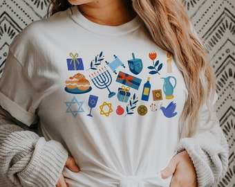 It's the Little Things   Happy Hanukkah Holidays & Merry Christmas   UNISEX Relaxed Jersey T-Shirt