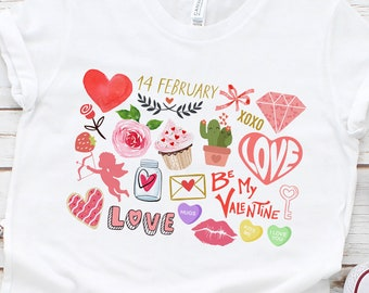 It's the Little Things   Happy Valentine's Love Day   UNISEX Relaxed Jersey T-Shirt for Women