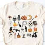 Soft Unisex Bella - It's the Little Things Halloween Skeletons Ghosts Witches Goblins Pumpkins Candy