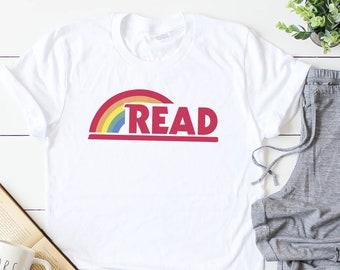 The Original Read Rainbow Teaching, Reading, School Book Parody Graphic Tee (Unisex Bella Canvas for Women / Men)
