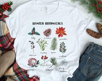 Winter Botanical Inspired Soft Unisex (for Women) Bella Graphic Tees